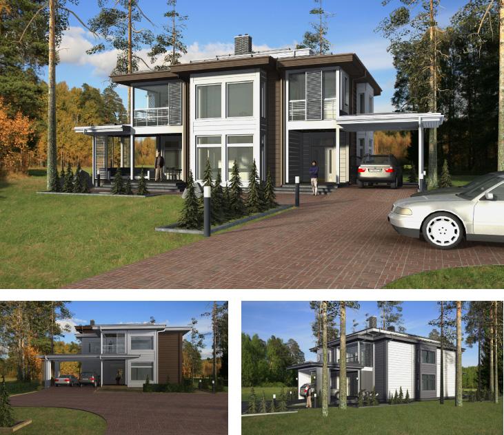 Моделирование и визуализация проектов коттеджей HONKANOVA Concept Residence - 1