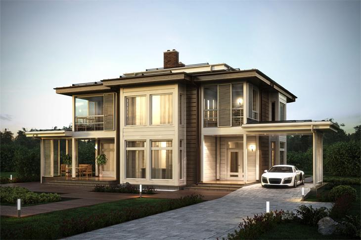 Моделирование и визуализация проектов коттеджей HONKANOVA Concept Residence - 11