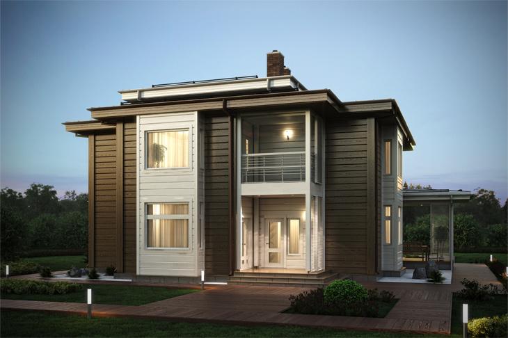 Моделирование и визуализация проектов коттеджей HONKANOVA Concept Residence - 12