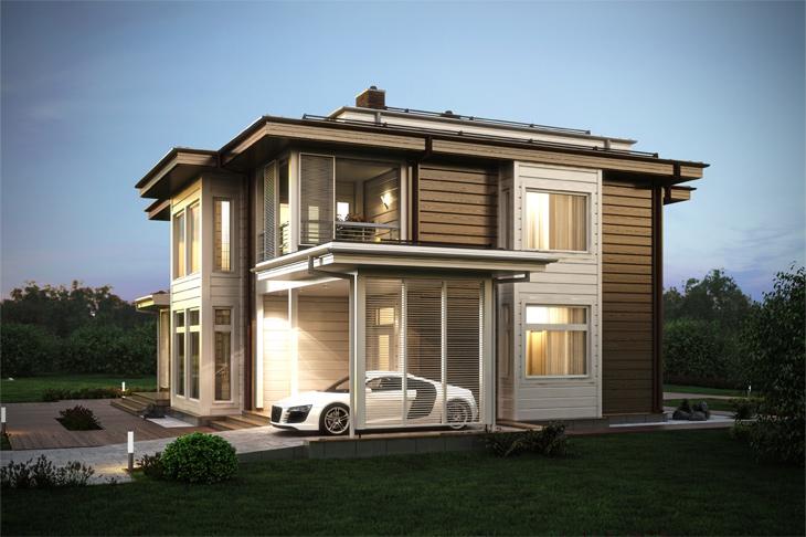 Моделирование и визуализация проектов коттеджей HONKANOVA Concept Residence - 13