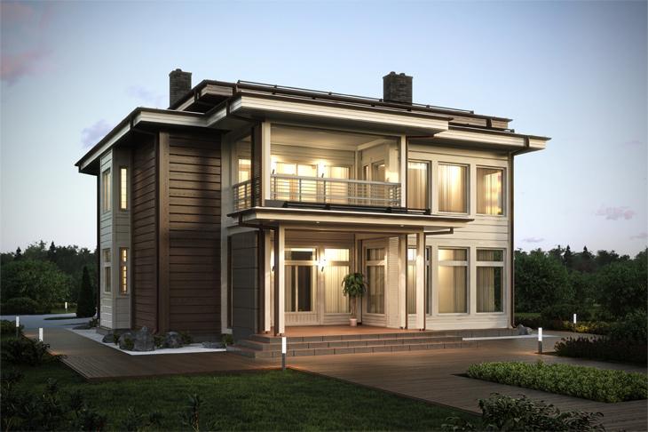 Моделирование и визуализация проектов коттеджей HONKANOVA Concept Residence - 14
