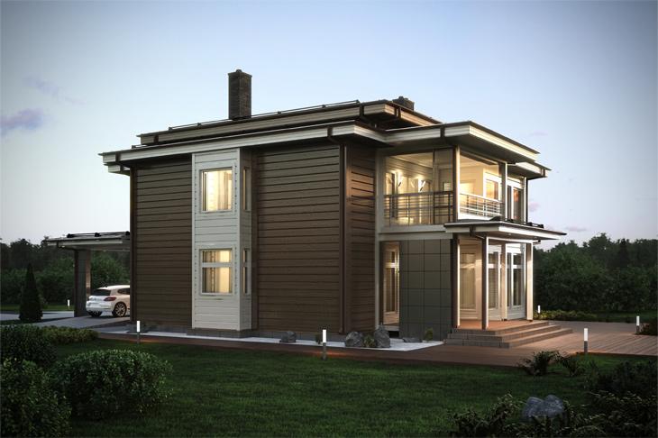Моделирование и визуализация проектов коттеджей HONKANOVA Concept Residence - 15