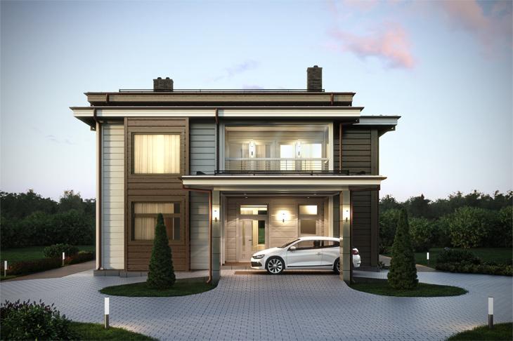 Моделирование и визуализация проектов коттеджей HONKANOVA Concept Residence - 16