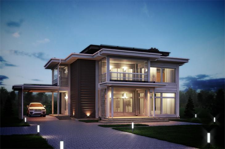 Моделирование и визуализация проектов коттеджей HONKANOVA Concept Residence - 17