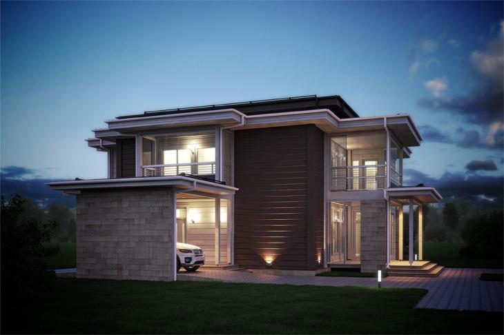 Моделирование и визуализация проектов коттеджей HONKANOVA Concept Residence - 18