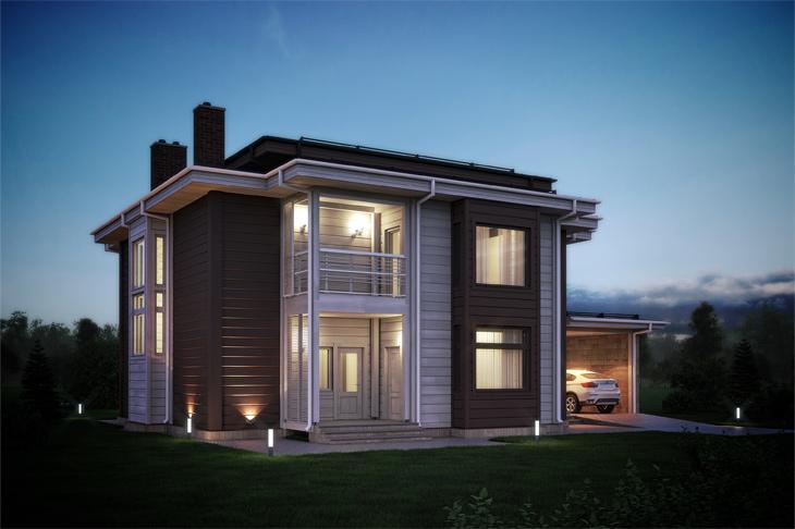 Моделирование и визуализация проектов коттеджей HONKANOVA Concept Residence - 19