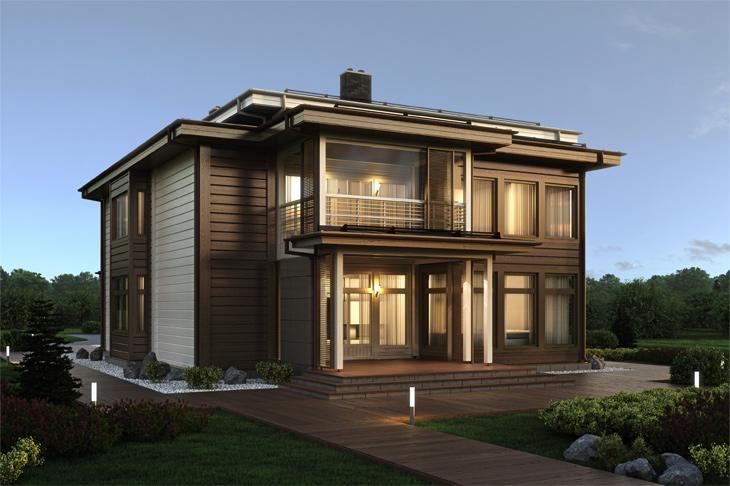 Моделирование и визуализация проектов коттеджей HONKANOVA Concept Residence - 20