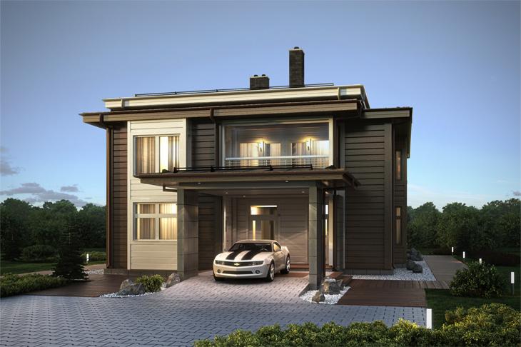 Моделирование и визуализация проектов коттеджей HONKANOVA Concept Residence - 21