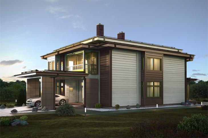 Моделирование и визуализация проектов коттеджей HONKANOVA Concept Residence - 22