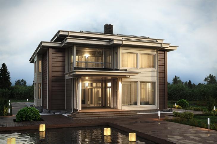 Моделирование и визуализация проектов коттеджей HONKANOVA Concept Residence - 23