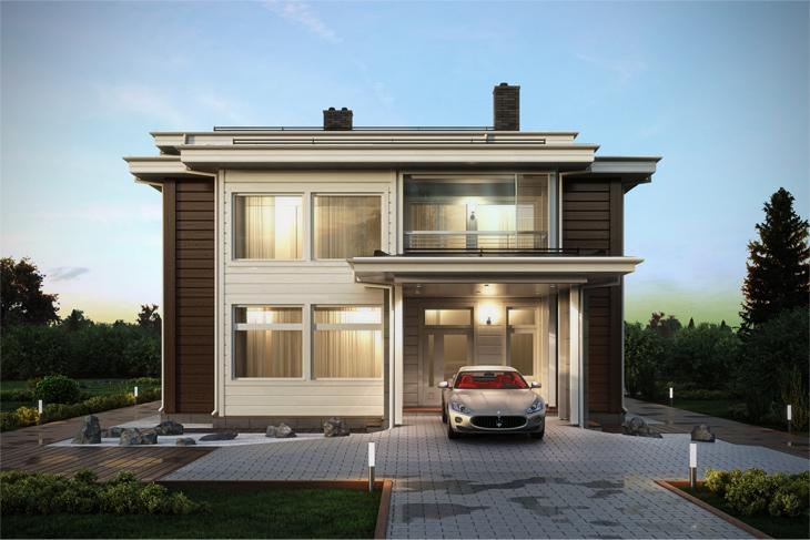 Моделирование и визуализация проектов коттеджей HONKANOVA Concept Residence - 24