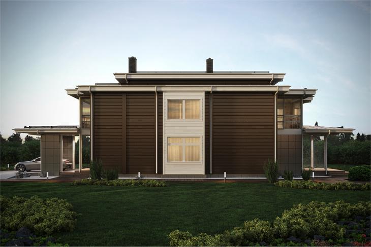 Моделирование и визуализация проектов коттеджей HONKANOVA Concept Residence - 25