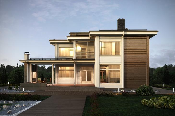Моделирование и визуализация проектов коттеджей HONKANOVA Concept Residence - 26