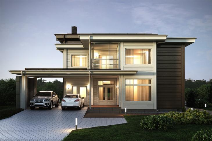 Моделирование и визуализация проектов коттеджей HONKANOVA Concept Residence - 27