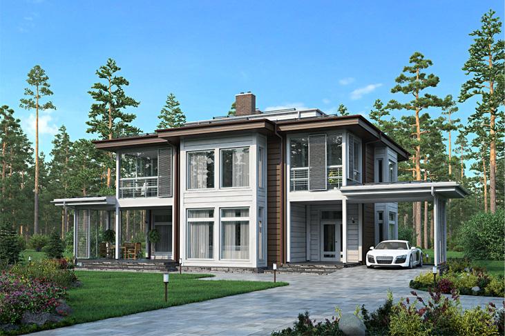 Моделирование и визуализация проектов коттеджей HONKANOVA Concept Residence - 3