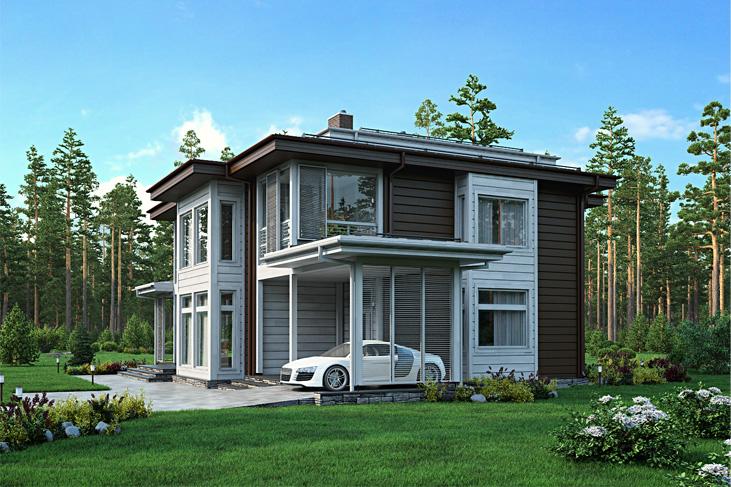 Моделирование и визуализация проектов коттеджей HONKANOVA Concept Residence - 4
