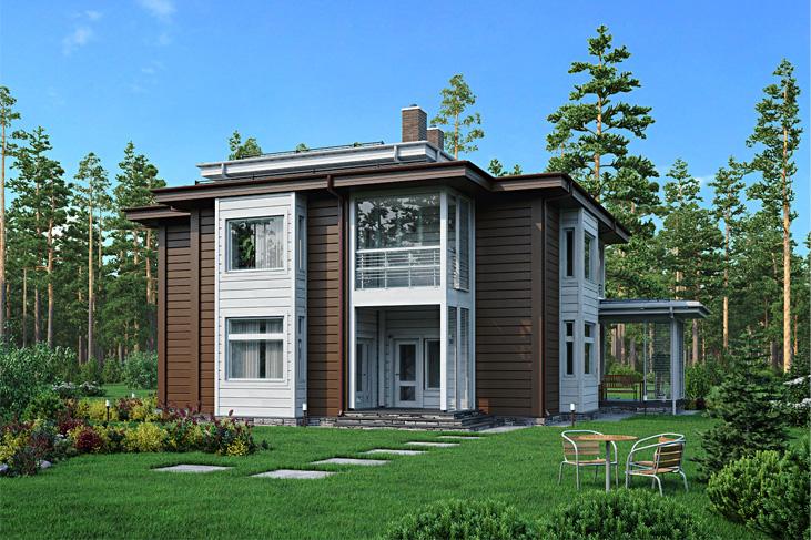 Моделирование и визуализация проектов коттеджей HONKANOVA Concept Residence - 5