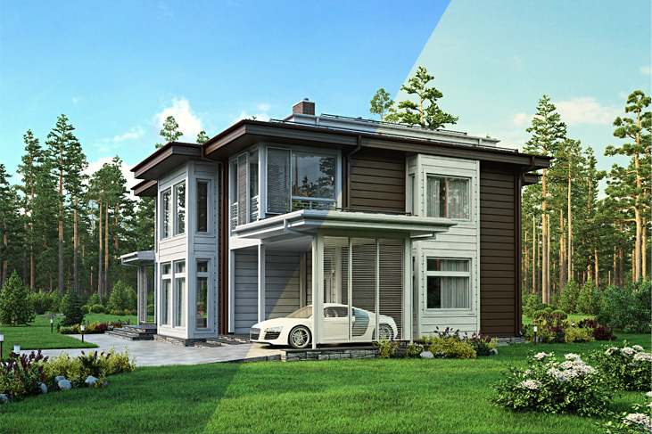 Моделирование и визуализация проектов коттеджей HONKANOVA Concept Residence - 7