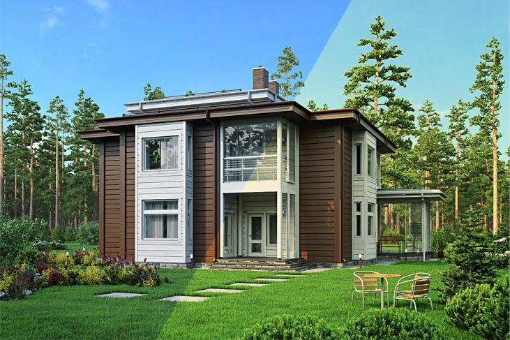 Моделирование и визуализация проектов коттеджей HONKANOVA Concept Residence - 8