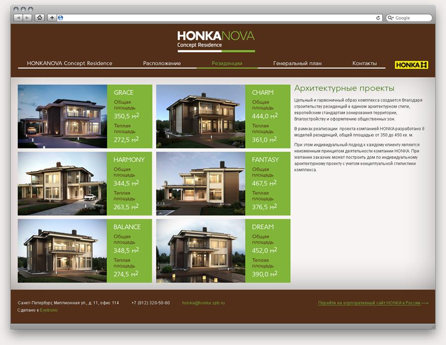 Разработка сайта коттеджного поселка «HONKANOVA» - 4