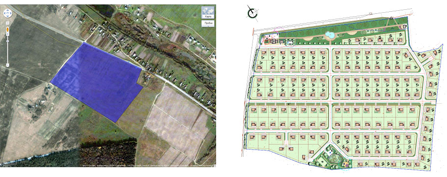 Создание генпланов для коттеджных посёлков «LandKey» - 1