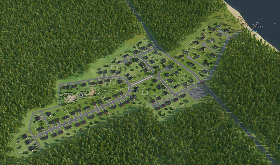 Генплан коттеджного поселка «Landskrona» - 2