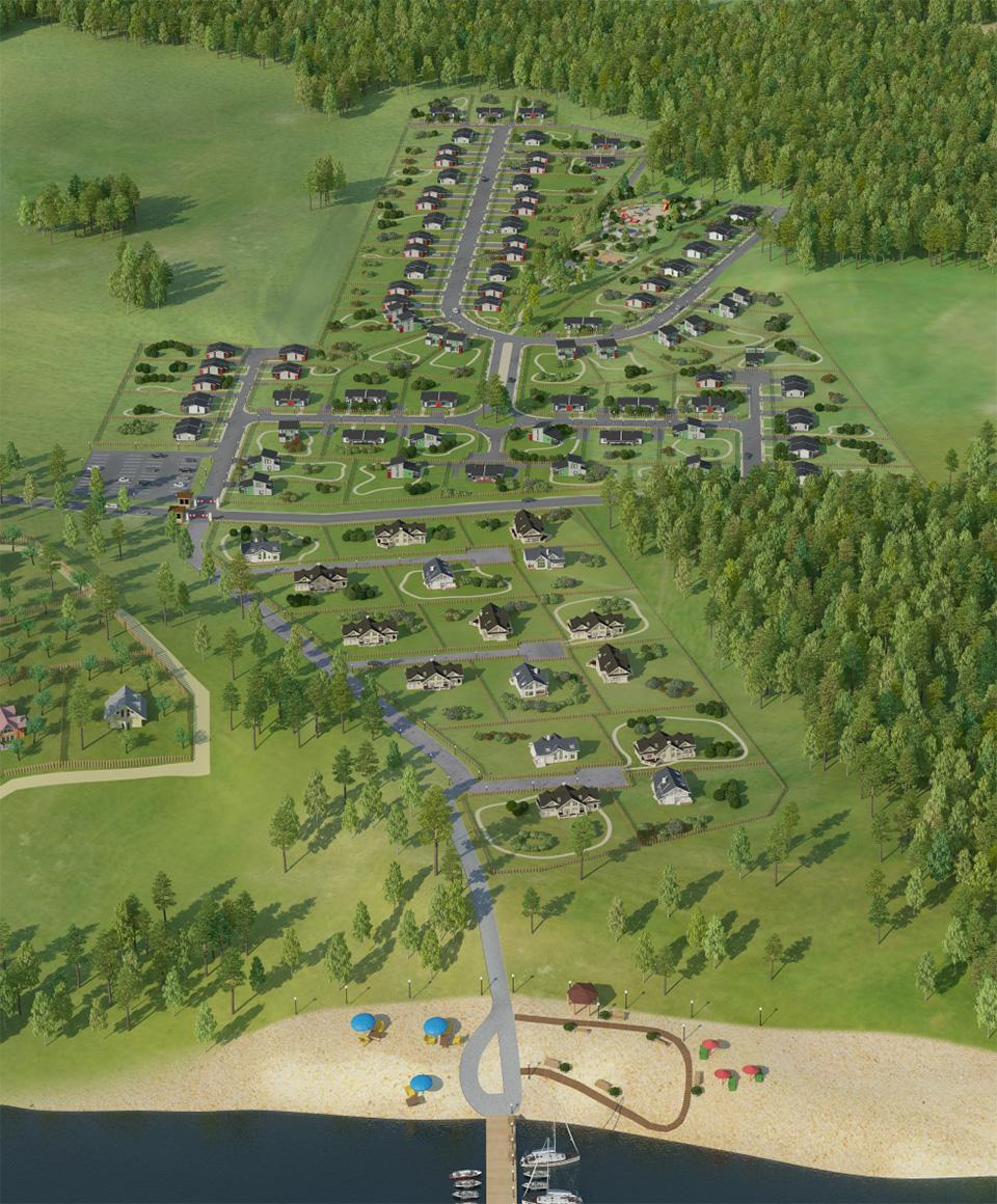 Генплан коттеджного поселка «Landskrona» - 4