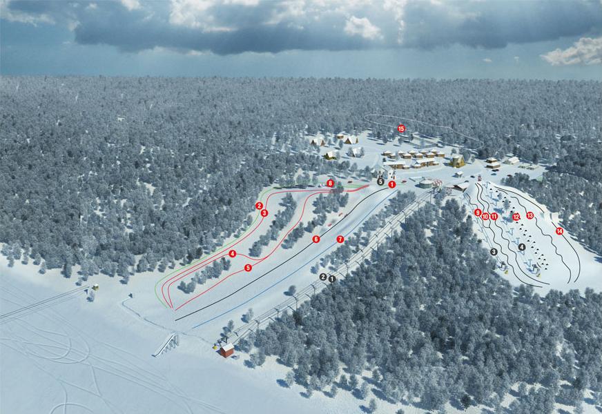 Создание генплана горнолыжного курорта «Красное озеро» - 10