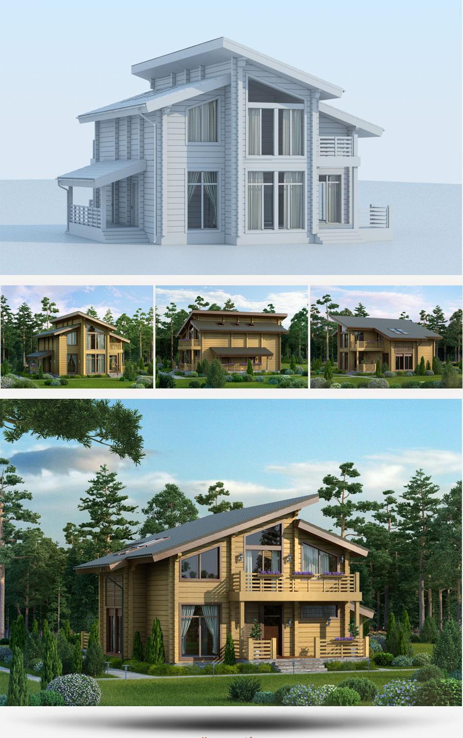 Создание 3D-моделей проектов домов строительной компании «Русь» - 4
